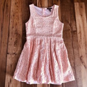 Forever 21 Peach Lace Floral Dress